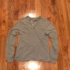 J Crew Heather Grey Henley M
